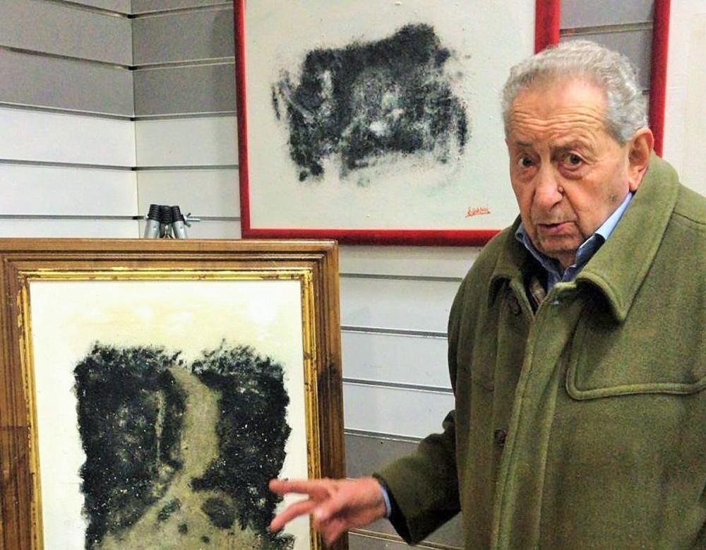 il pittore Ennio Scorsoni