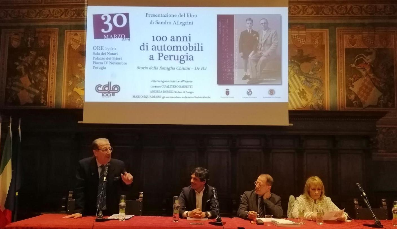 """Presentazione del Libro """"100 anni di automobili a Perugia"""""""