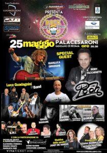 """Locandina evento al Palacesaroni """"Rock per un bambino"""""""