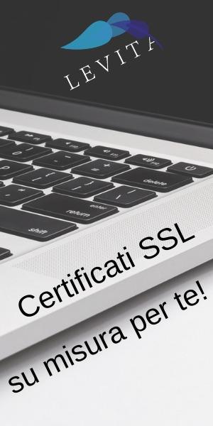 Banner Levita Certificati SSL