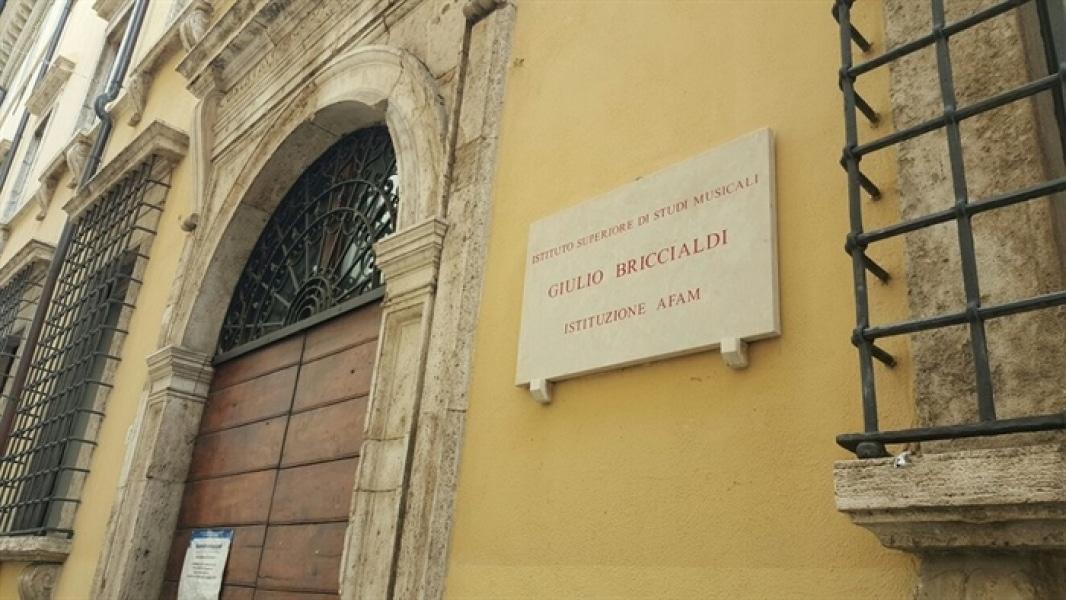 La facciata dell'Istituto Superiore Briccialdi di Terni