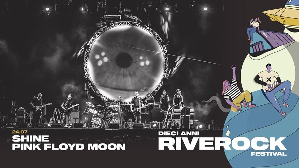 nella foto la locandina dello spettacolo Shine Pink Floyd Moon