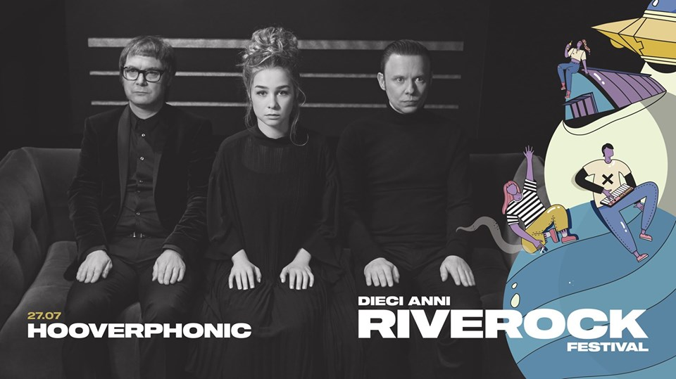 nella fotografia la locandina del concerto degli hooverphonic al riverock festival