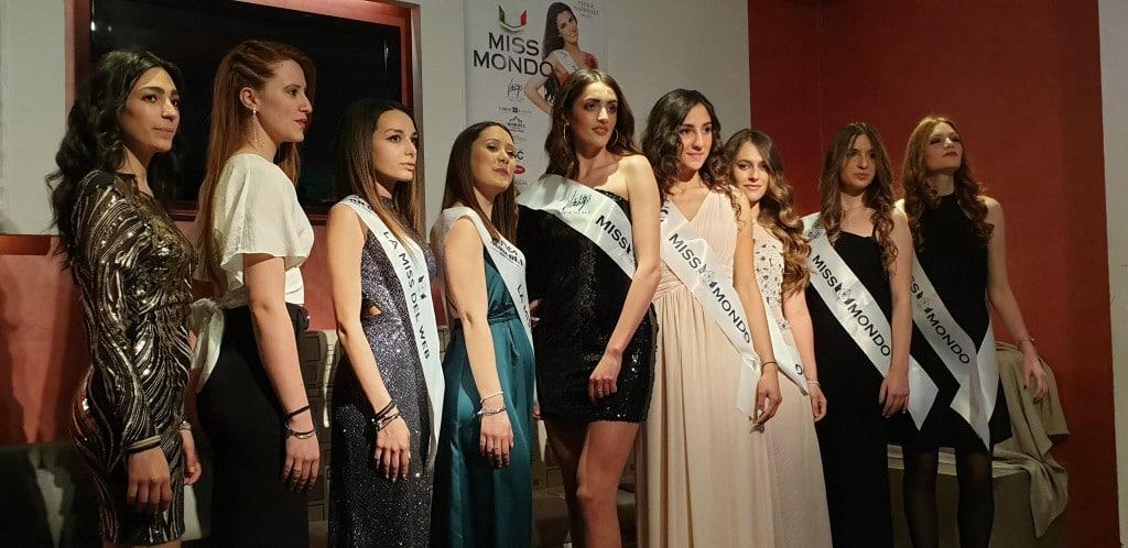 nella fotografia le finaliste di miss mondo umbria 2019