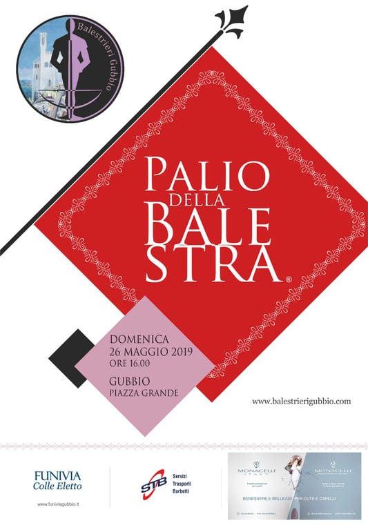 nella foto la locandina del Palio della Balestra di Gubbio 2019