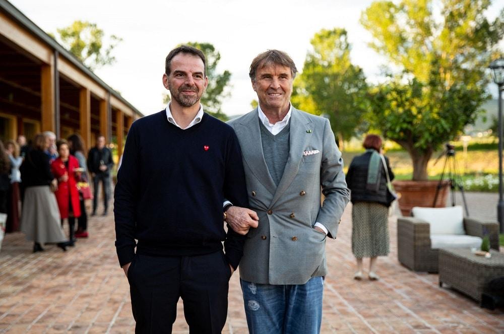 Nino Marino e Brunello Cucinelli
