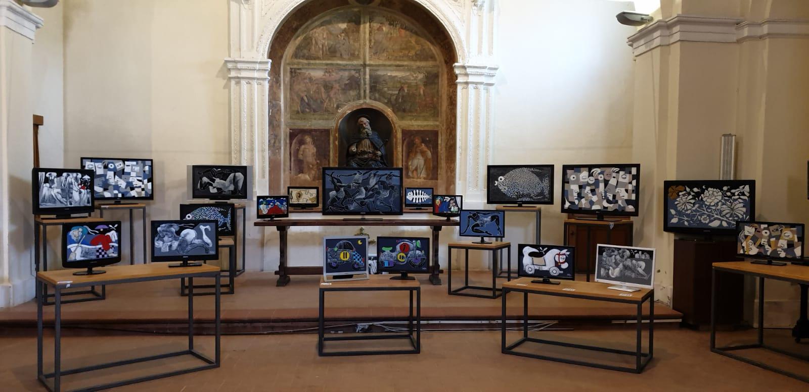 La presentazione della mostra di Silvano D'Orsi a Deruta