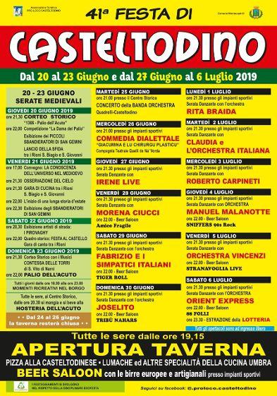 locandina della Festa di Casteltodino 2019