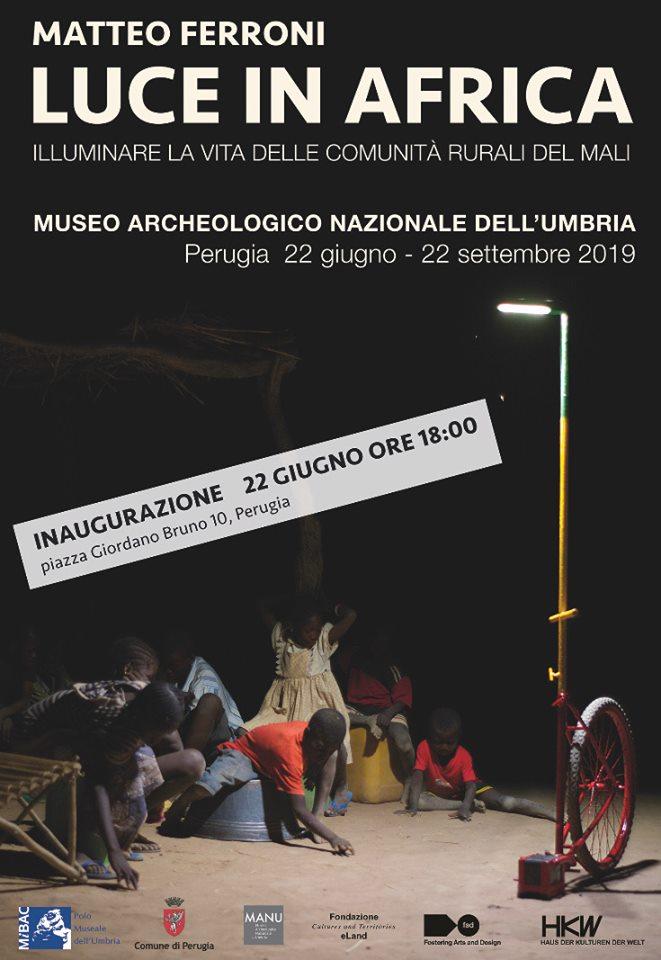 locandina della mostra Luce in Africa a Perugia
