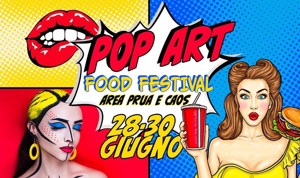 locandina della prima edizione del pop art food festival a terni