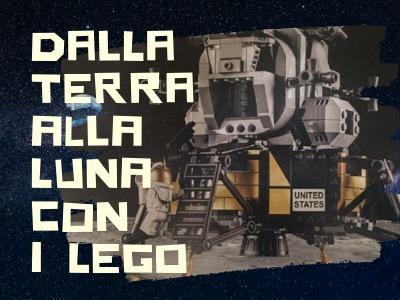 locandina del laboratorio di coderdojo Dalla Terra alla Luna con i lego a Perugia