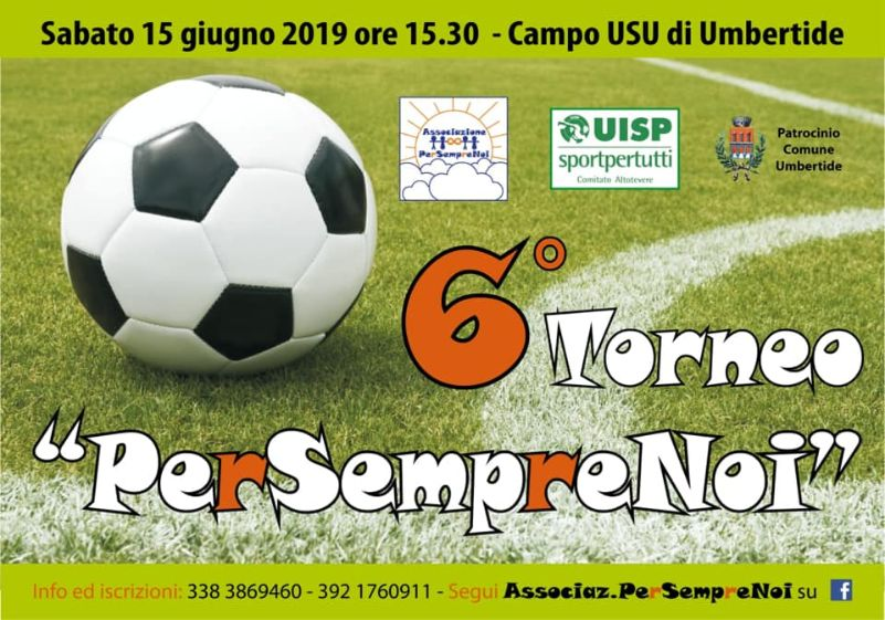 locandina del torneo sportivo Per Sempre Noi 2019 a Umbertide
