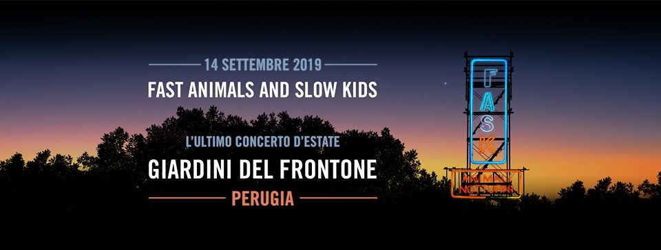locandina del concerto dei Fask a Perugia