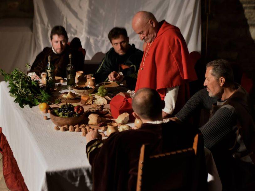 fotografia di scena della congiura al castello a Magione