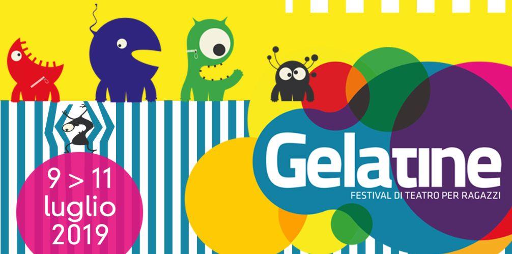 locandina del festival Gelatine 2019 in Umbria teatro per ragazzi