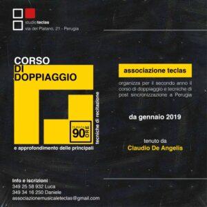 La locandina del corso di doppiaggio a Perugia dello Studio Teclas