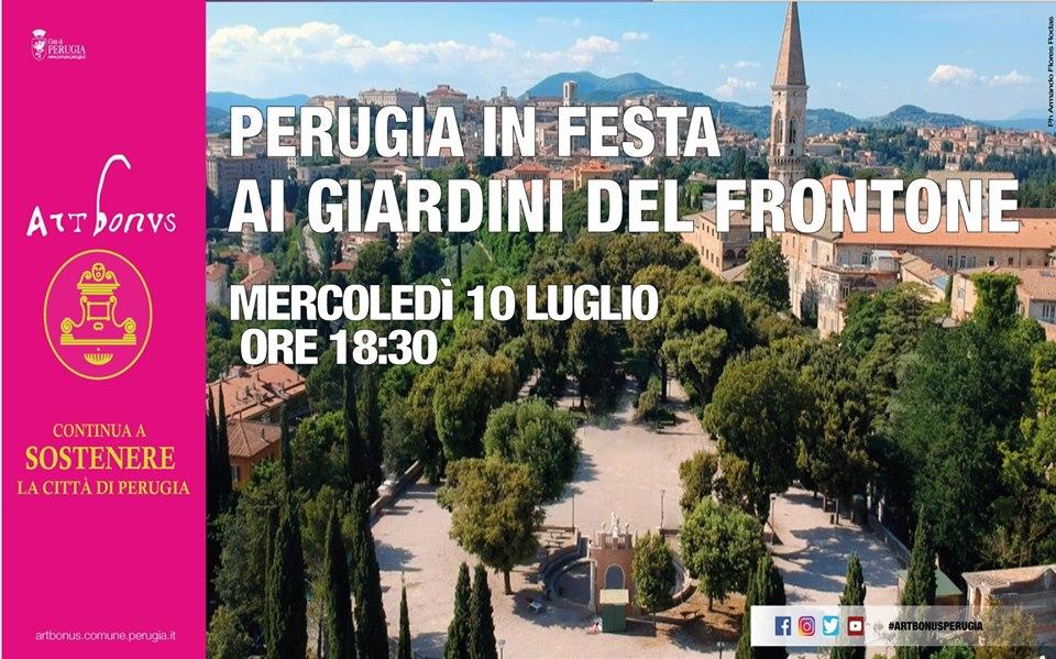 locandina perugia in festa ai giardini del frontone 2019