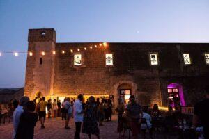 immagine del terrazzo del castello di corigliano d'otranto