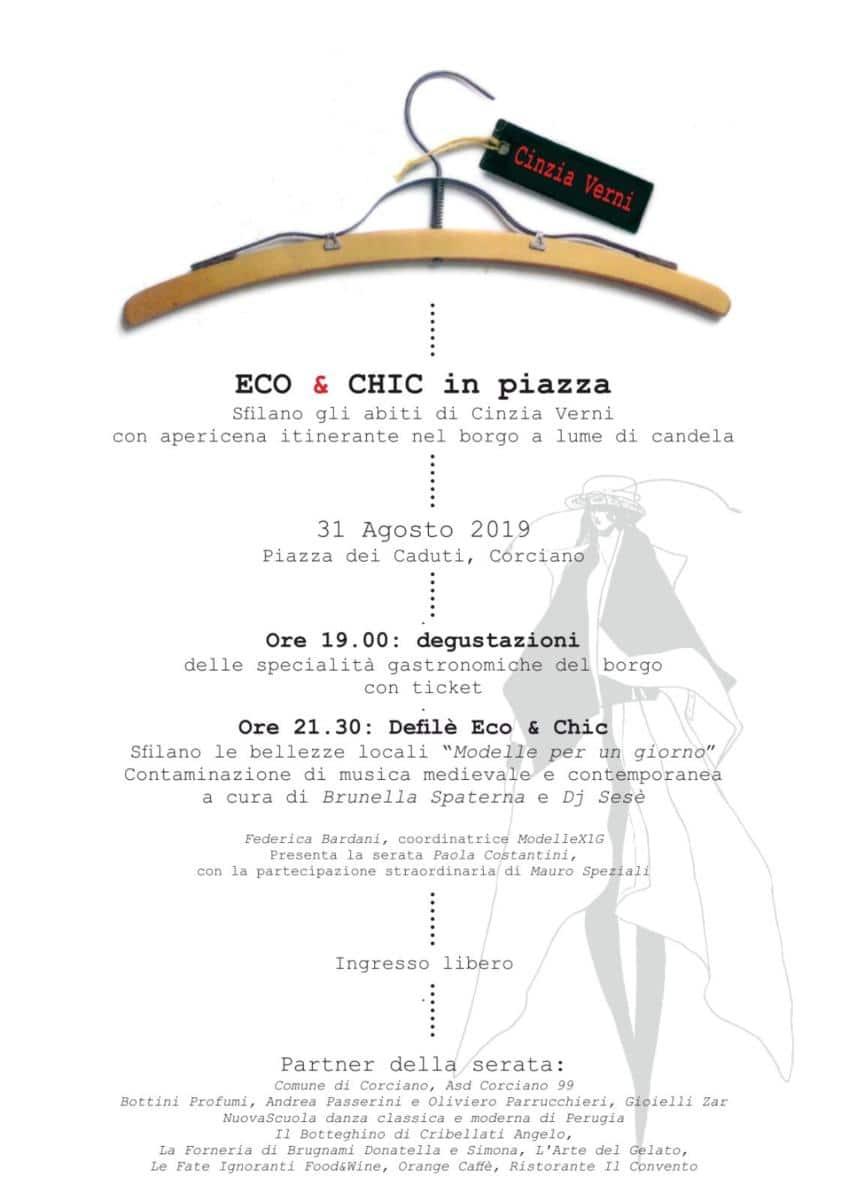 Corciano, sabato 31 agosto torna la serata Eco&Chic
