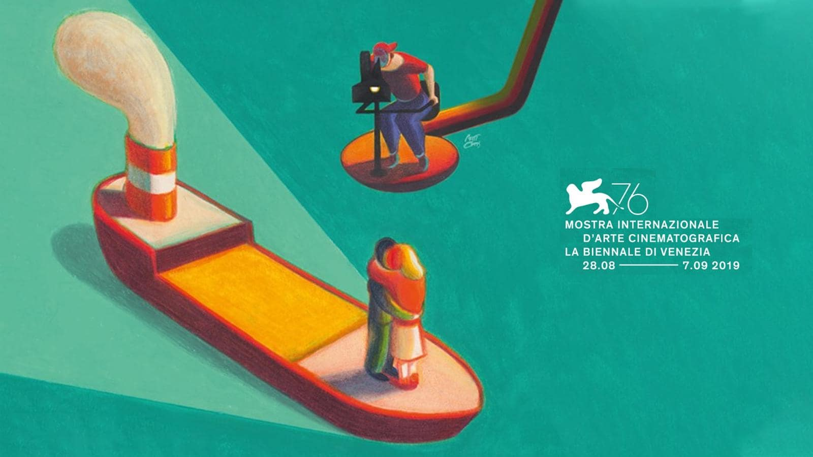 Locandina della 76 mostra internazionale d'arte cinematografica biennale di Venezia