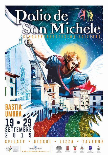 locandina del Palio de San Michele 2019 a Bastia Umbra