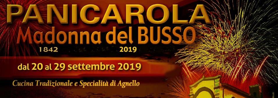 Locandina della festa Madonna del Busso 2019 a Panicarola