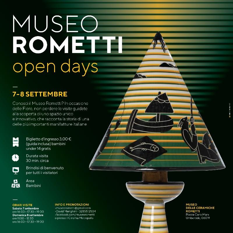 Umbertide, il 7 e l'8 settembre open days al Museo Rometti
