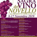 Dall'8 al 17 novembre ad Acquasparta taverne aperte e molto altro per la Sagra del vino novello e dei prodotti tipici locali