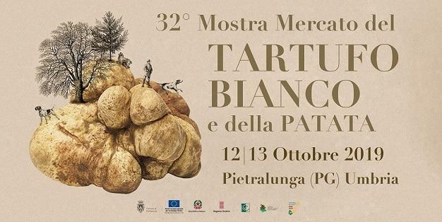 locandina della 32esima edizione della mostra del tartufo bianco e della patata