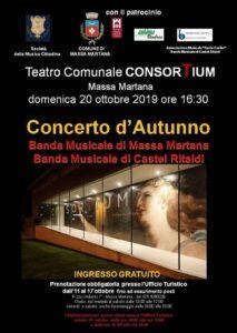 locandina del concerto d'autunno a massa martana