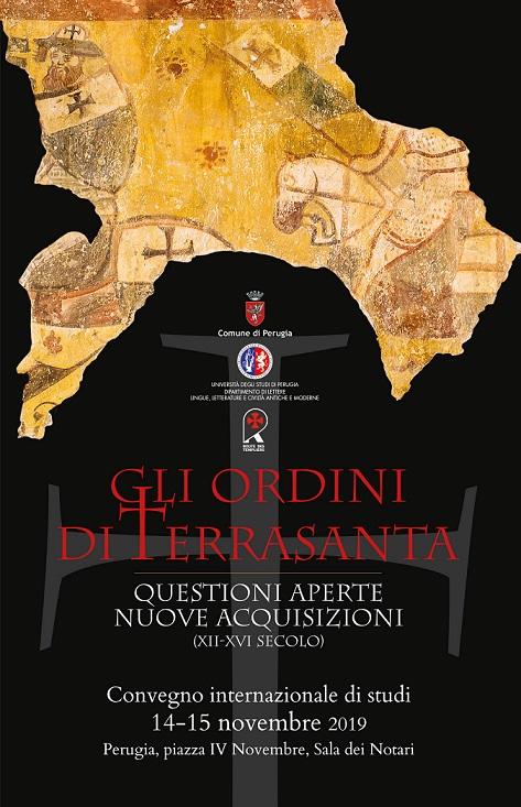locandina Gli Ordini di Terrasanta convegno a Perugia