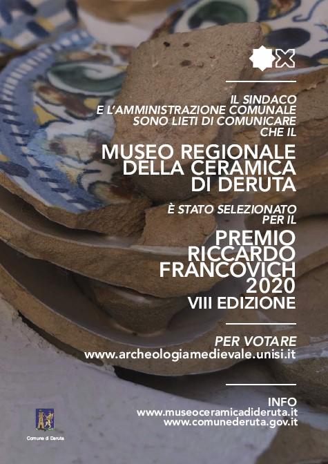Il Museo della Ceramica di Deruta in lizza per il Premio Riccardo Francovich