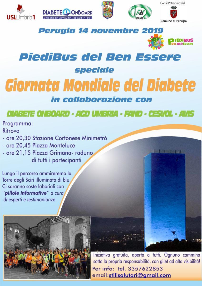Perugia, il 14 novembre la Torre degli Sciri si illumina di blu