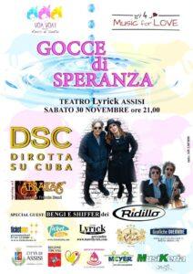 Musica e solidarietà con Gocce di Speranza al teatro Lyrick di Assisi