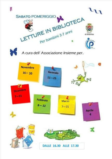 locandina letture per bambini Insieme per