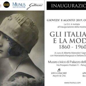 locandina mostra Gli Italiani e la Moda 1860 - 1960 a Perugia