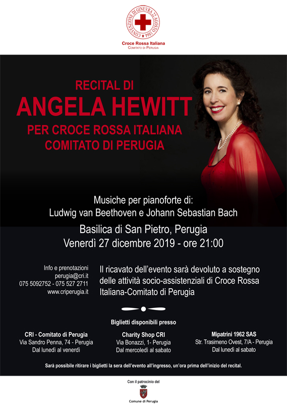 locandina concerto Angela Hewitt per CRI Perugia 2019