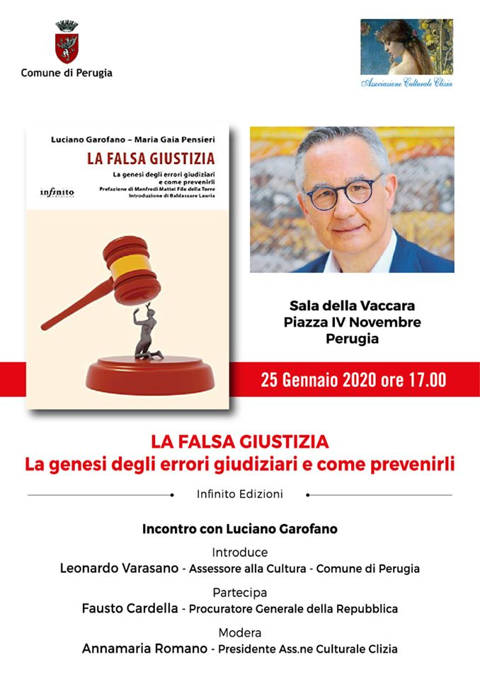 Luciano Garofano a Perugia per presentare il suo ultimo libro