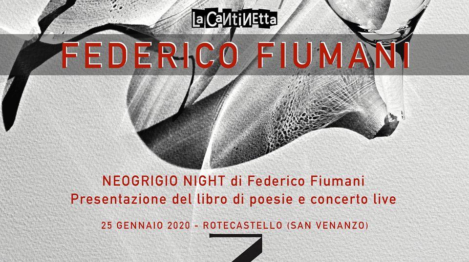 Rotecastello, sabato 25 gennaio Federico Fiumani in Neogrigio Night