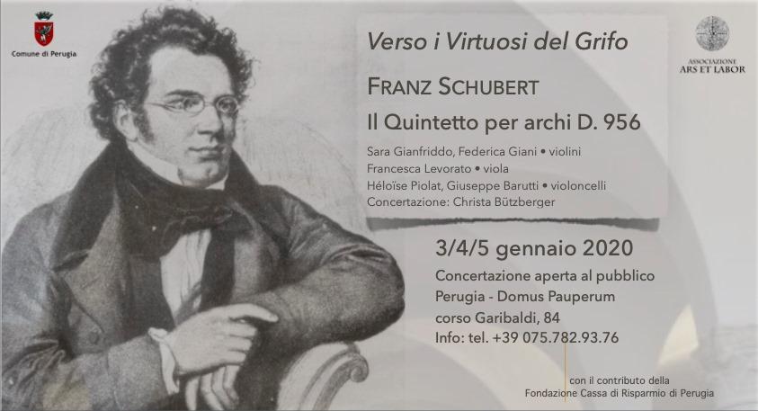 locandina evento Franz Schubert - Concertazione pubblica del Quintetto per archi