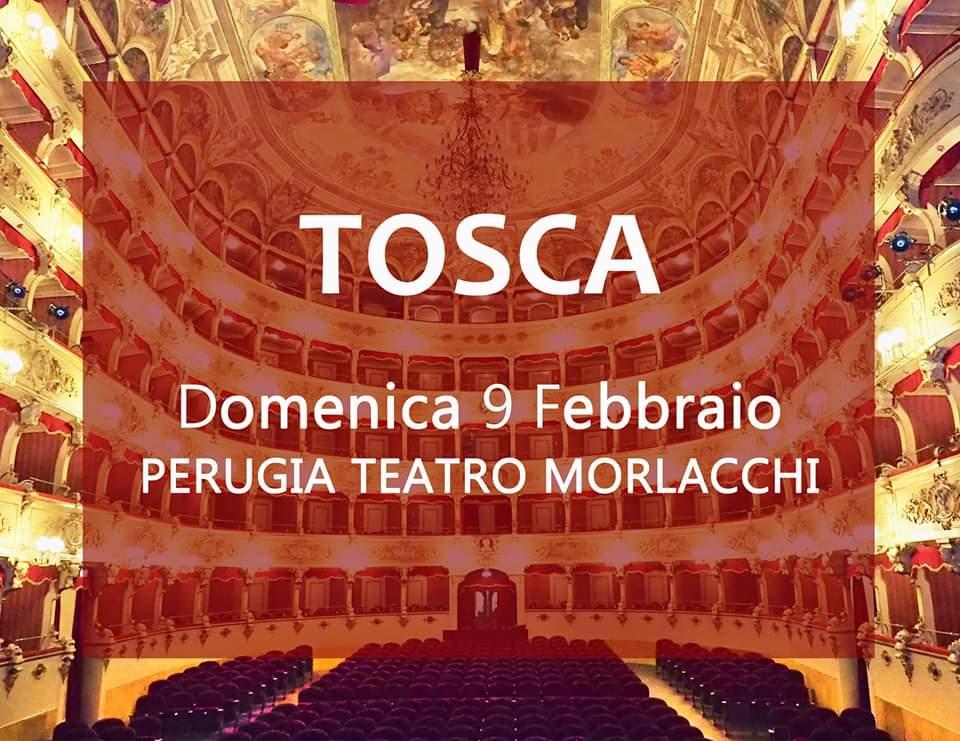 locandina Tosca al Teatro Morlacchi