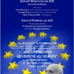 locandina mostra Dallo spirito di Ventotene all'Europa