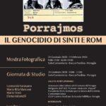locandina mostra Porrajmos. Il Genocidio di Sinti e Rom