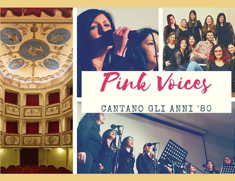 locandina Pink Voices cantano gli anni '80