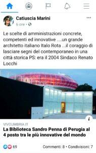 Biblioteca Sandro Penna di Perugia, anche l'ex presidente Marini commenta la notizia