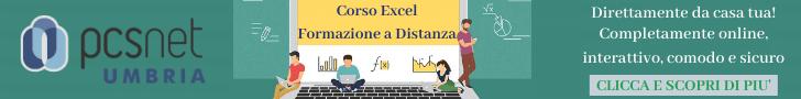 corso Excel Base – Formazione a Distanza
